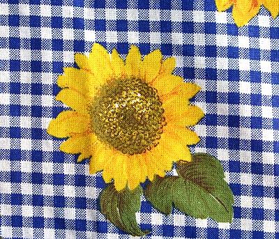2er set polsterbez ge sunflower sitzauflagen hochlehner ebay. Black Bedroom Furniture Sets. Home Design Ideas