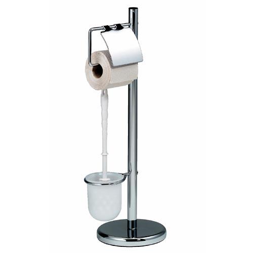 wc garnitur toilettenb rste toilettenst nder verchromt ebay. Black Bedroom Furniture Sets. Home Design Ideas