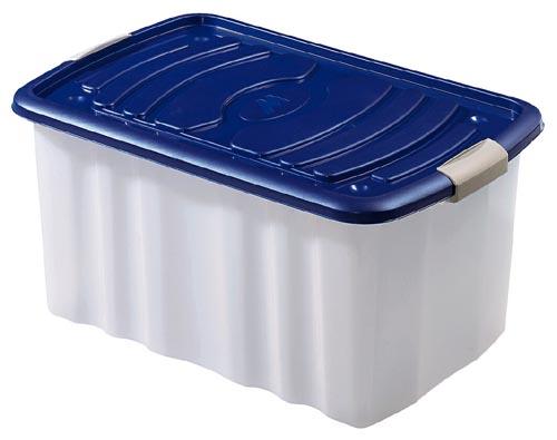 rollbox rollenbox rollencontainer mit deckel in blau blau. Black Bedroom Furniture Sets. Home Design Ideas