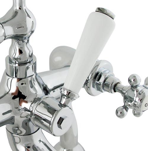 Griferia Para Baño Estilo Antiguo:Detalles de ESSEX 2 Orificio Grifo de bañera Grifería de bañera