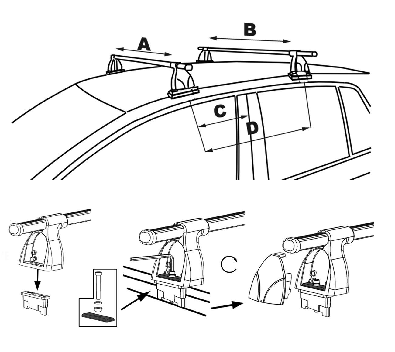 Aurilis Galerie De Toit Assy Mini Cooper One Mercedes A