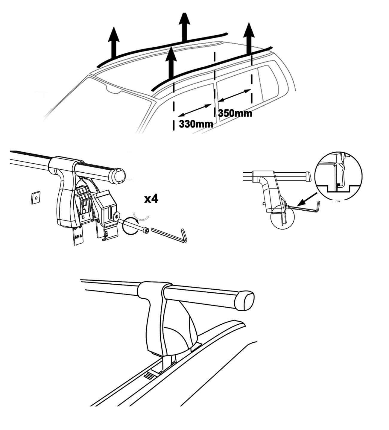aurilis dachtr ger easy one f r ford fiesta schr gheck 3. Black Bedroom Furniture Sets. Home Design Ideas