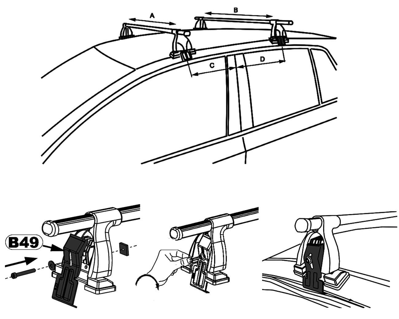 aurilis dachtr ger easy one ford fiesta v schr gheck 5. Black Bedroom Furniture Sets. Home Design Ideas