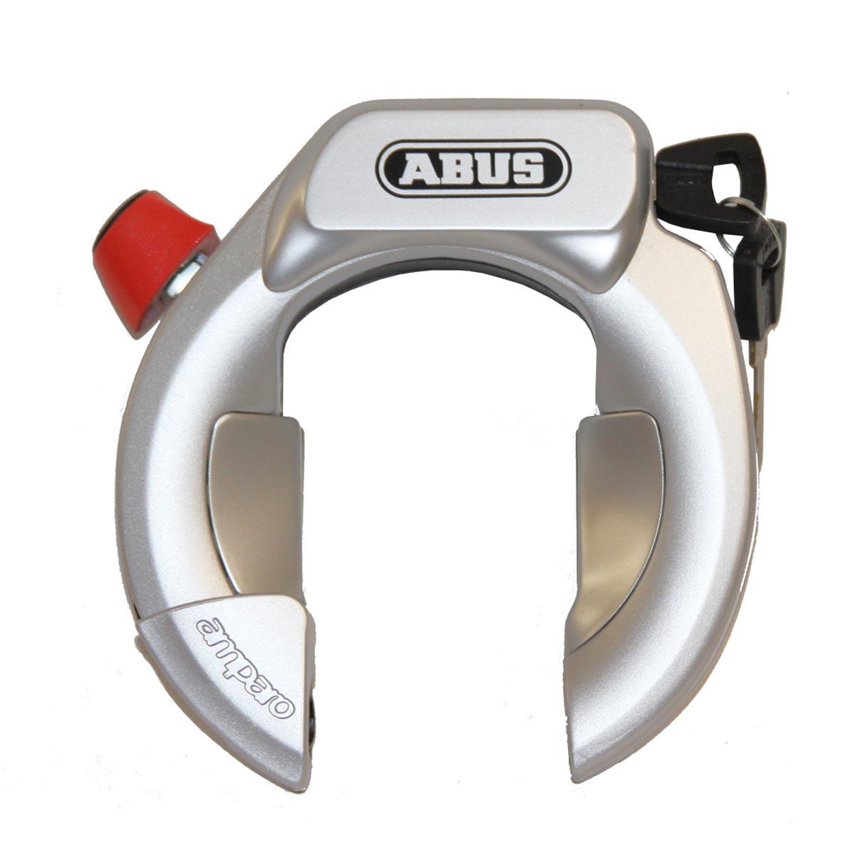 abus amparo 4850 lh kr bicycle frame lock level 9 white black silver ebay. Black Bedroom Furniture Sets. Home Design Ideas