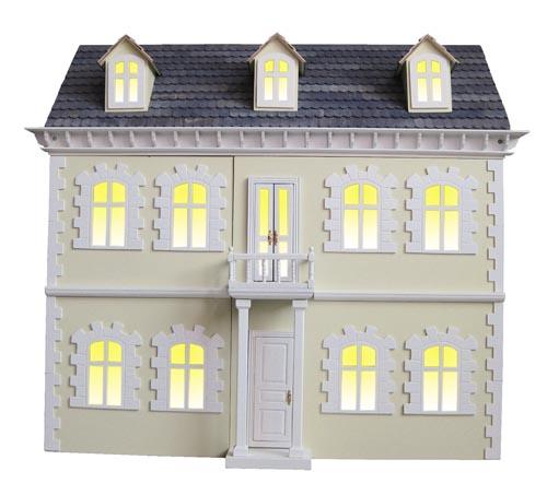 Viktorianisches Puppenhaus Holz ~ viktorianisches Puppenhaus Villa + 6 Möbel Sets (Kinderzimmer