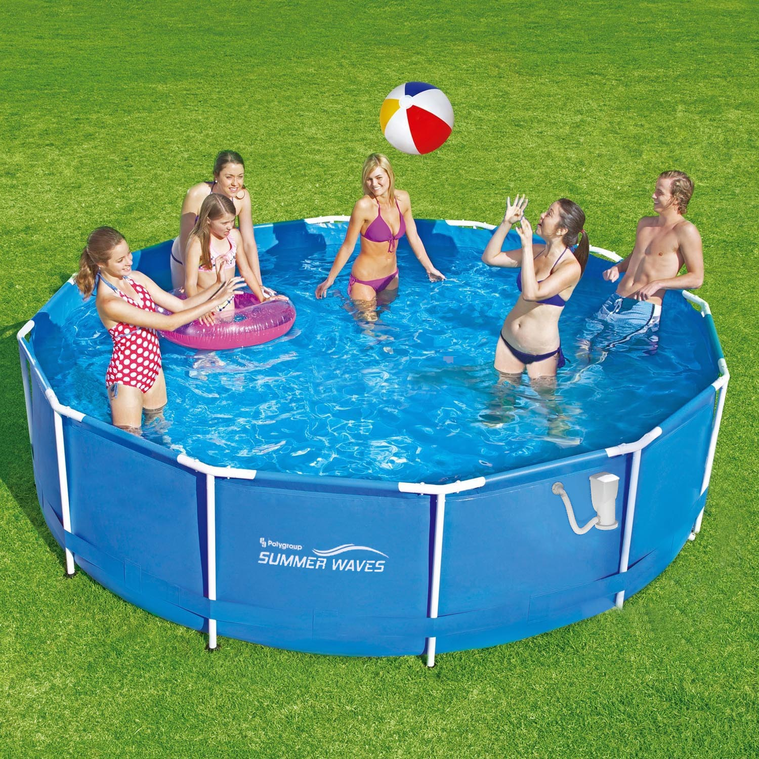 Summer waves frame pool 366x91cm rahmen swimming pool for Ebay piscinas