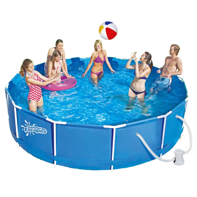Summer Escapes Frame Pool 366x91cm Rahmen Swimming Pool Schwimmbad Filterpumpe Ebay