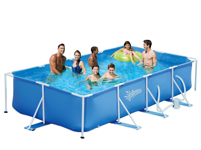summer escapes frame pool 427x244x91cm rahmen swimming pool familien schwimmbad. Black Bedroom Furniture Sets. Home Design Ideas