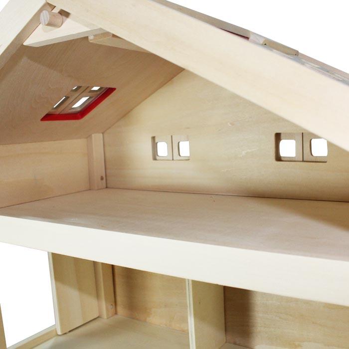 Puppenhaus Holz Selber Bauen Anleitung ~ Villa Freda Puppenhaus Stadtvilla aus Holz mit 3 Etagen Tragegriff