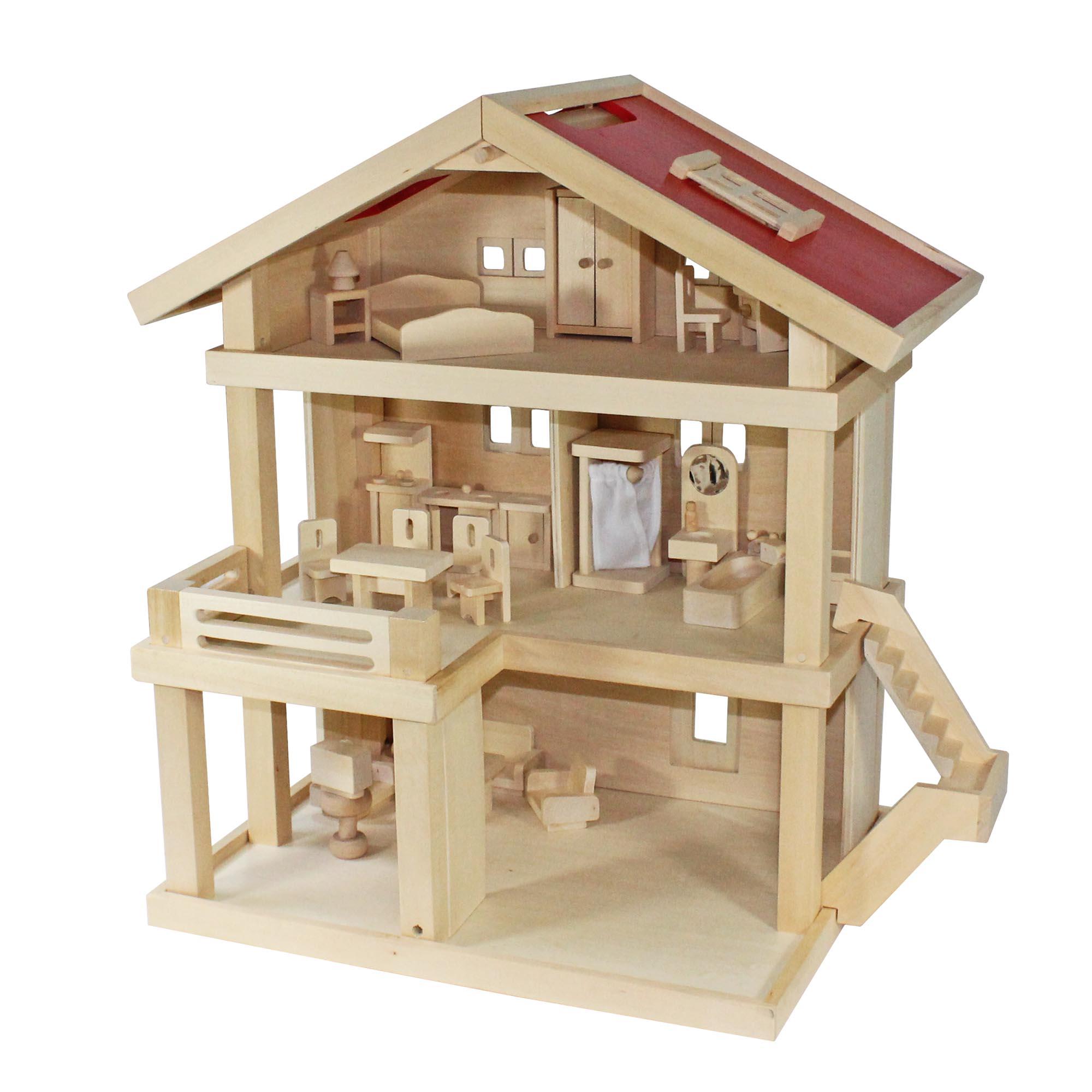 Casa de muñecas Ciudad Villa+Fundas + Muebles para muñecas  eBay