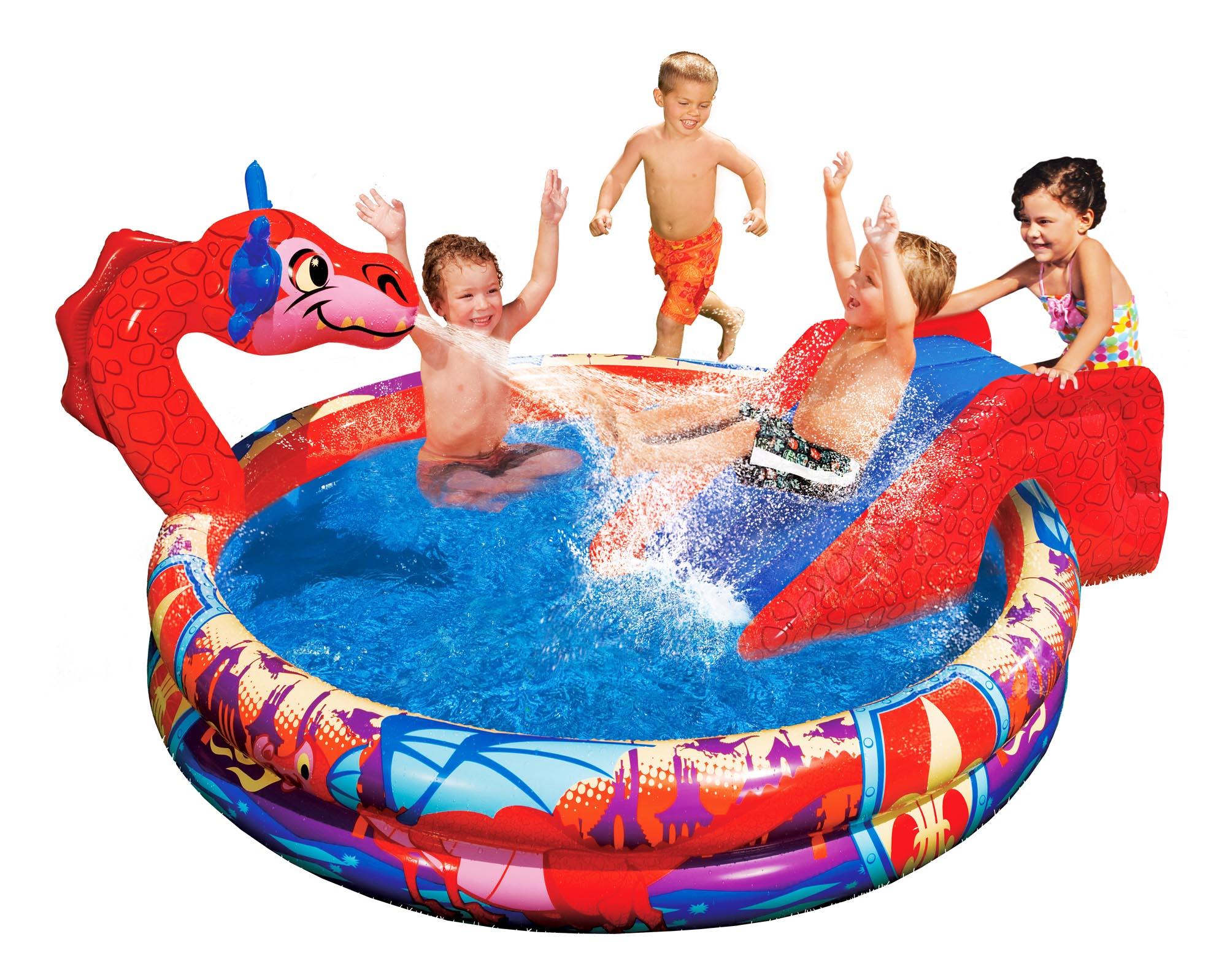 Banzai Bassin Gonflable Piscine Pour Enfants Dragon Avec