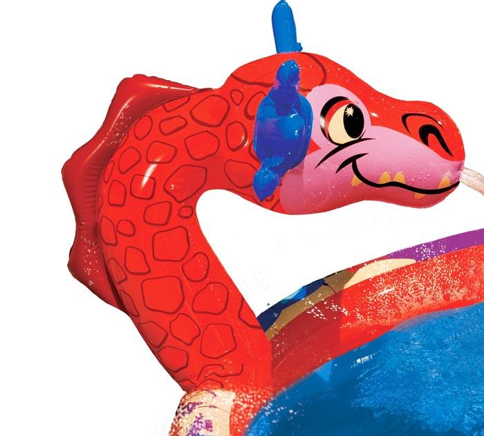Bassin gonflable Piscine pour enfants Dragon Avec Toboggan 147 x 25 cm