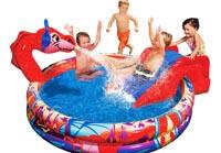 Banzai Bassin Gonflable Piscine Pour Enfants Baleine Avec Toboggan 224