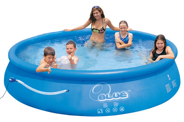 Blue quick up pool set 360 x 76 cm swimmingpool for Obi quick up pool