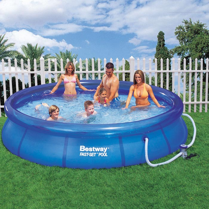 Bestway 57112 fast set quick up swimming pool schwimmbad for Obi quick up pool