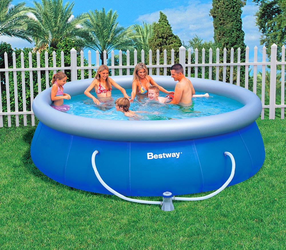 bestway fast set swimming pool inkl filterpumpe 366x91cm ebay. Black Bedroom Furniture Sets. Home Design Ideas