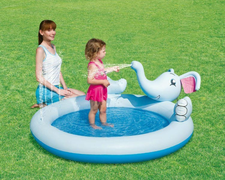 elefant spielpool planschbecken schwimmbecken kinder pool wasserspritzfunktion ebay. Black Bedroom Furniture Sets. Home Design Ideas