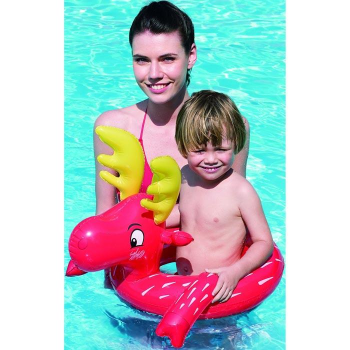 bestway schwimmring im tier design schwimmhilfe schwimmreifen badehilfe badering ebay. Black Bedroom Furniture Sets. Home Design Ideas