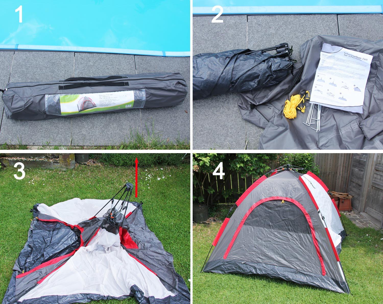 Zelt Schnellaufbau 4 Personen : Personen schnellaufbau camping zelt kuppelzelt iglu
