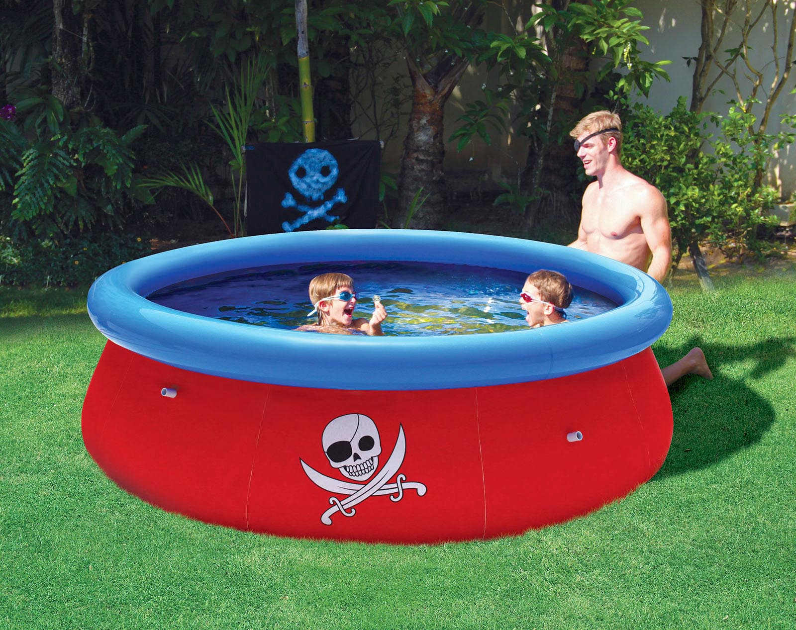 bestway pirat 3d swimmingpool 274x76cm planschbecken schwimmbecken pool kinder ebay. Black Bedroom Furniture Sets. Home Design Ideas