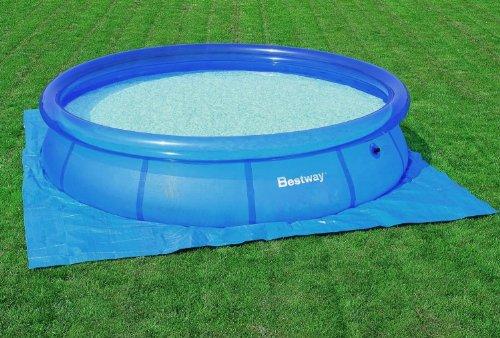 bestway 58002 bodenplane bodenfolie 396x396cm f r fast set pools 366 cm. Black Bedroom Furniture Sets. Home Design Ideas