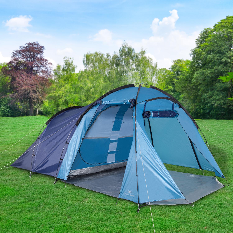 4 personen gro raum zelt 450x270x185cm campingzelt gruppenzelt familienzelt iglu. Black Bedroom Furniture Sets. Home Design Ideas