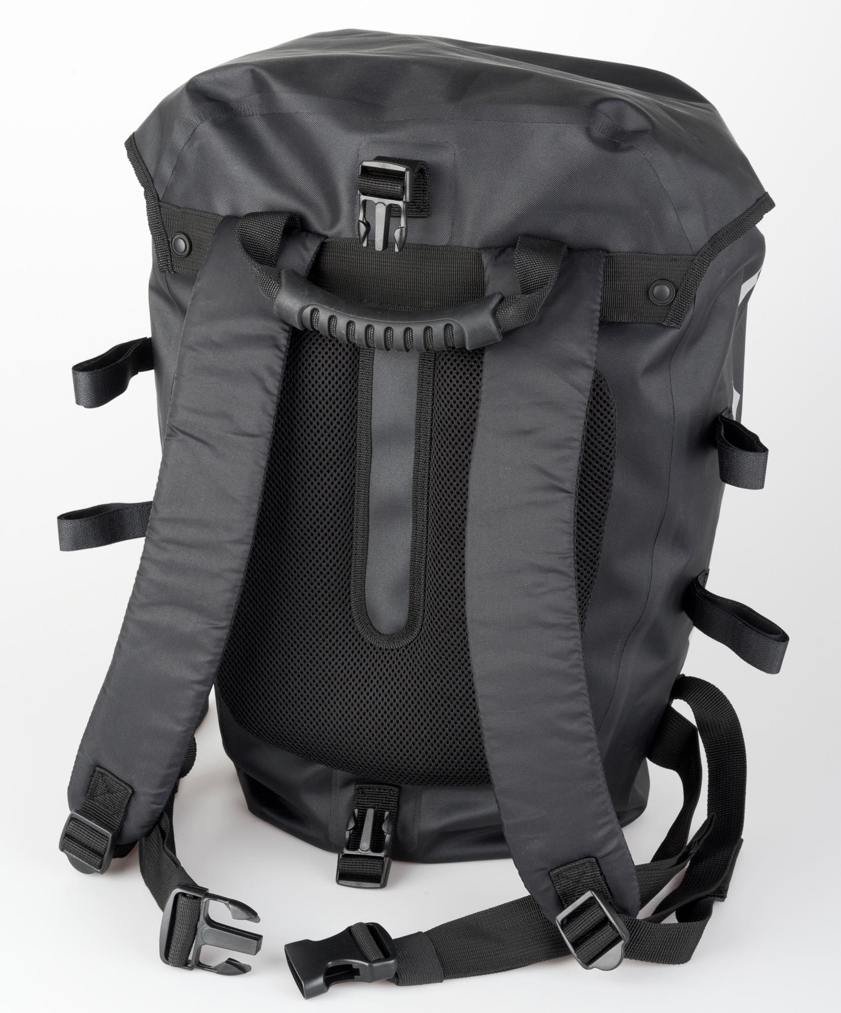 foxline fahrradrucksack rucksack fahrradtasche wasserdicht schwarz graphit ebay. Black Bedroom Furniture Sets. Home Design Ideas