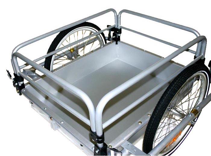 blue bird cargo fahrrad anh nger transportanh nger stabile alu wanne 129l ebay. Black Bedroom Furniture Sets. Home Design Ideas