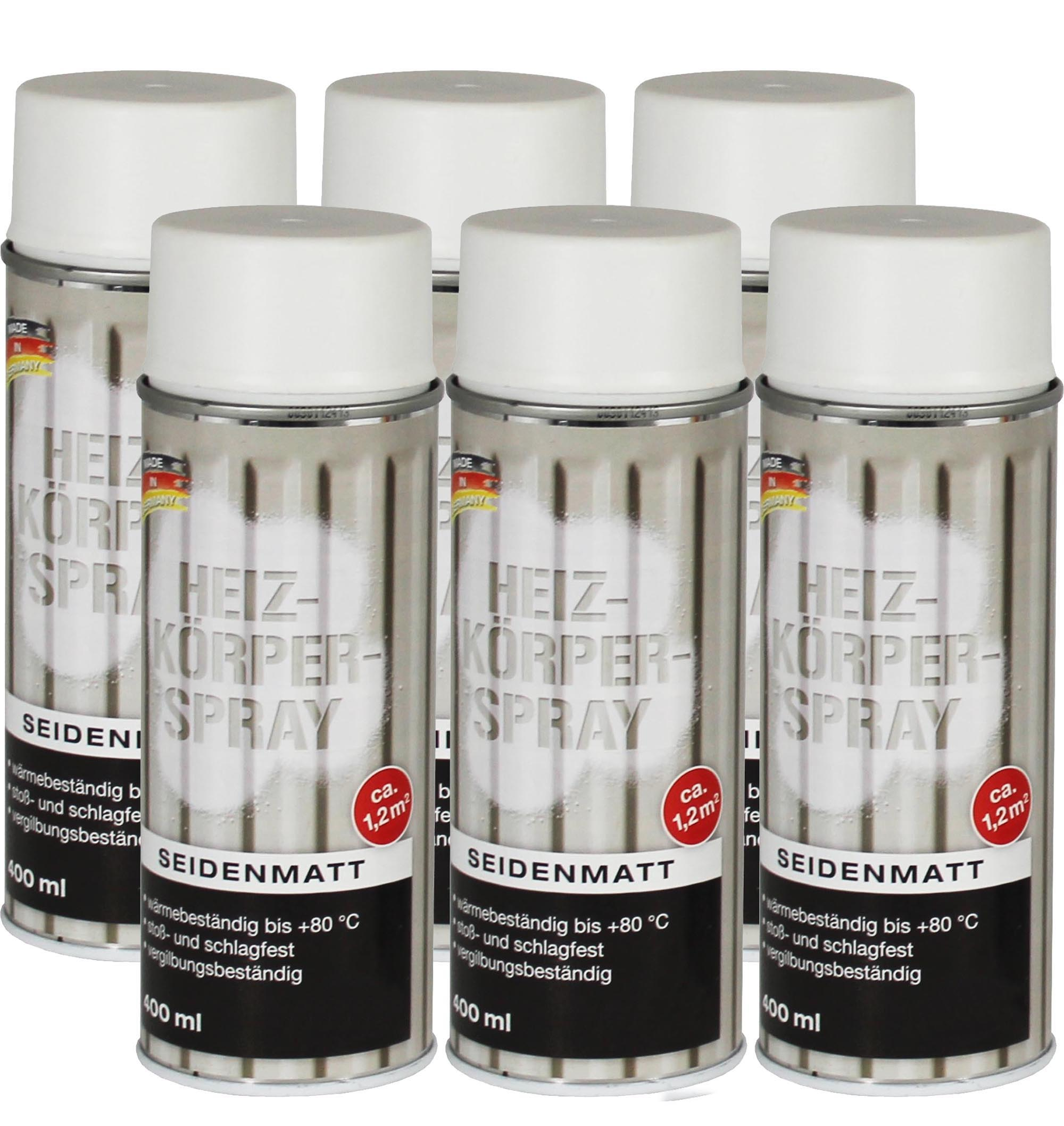 1 6x heizk rperspray heizk rper lack hochglanz seidenmatt weiss 400 ml spr hlack ebay. Black Bedroom Furniture Sets. Home Design Ideas