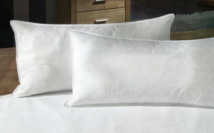 2 federkopfkissen kissen kopfkissen feder 40x80 cm allergiker geeignet ebay. Black Bedroom Furniture Sets. Home Design Ideas