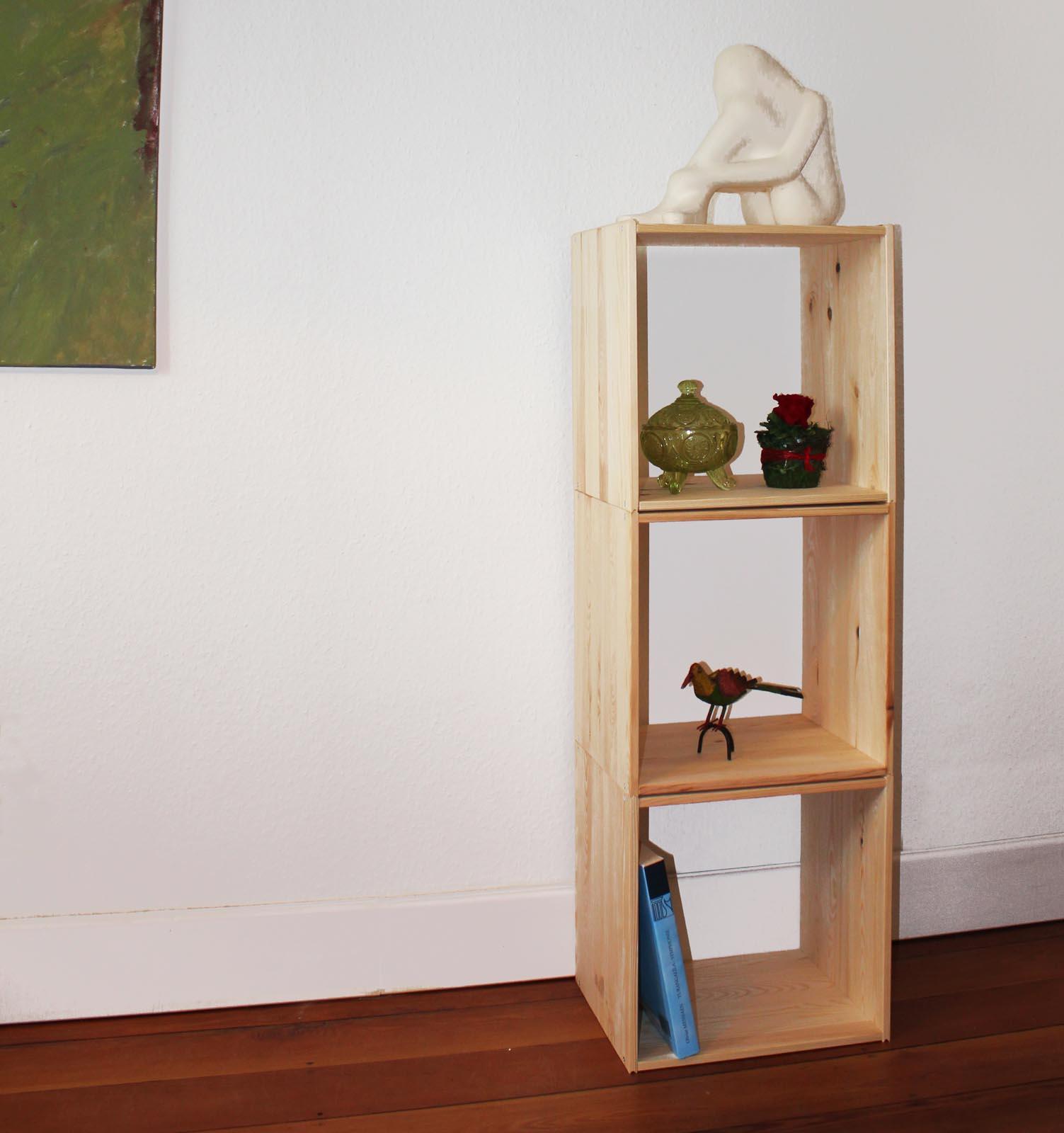 1 2 3er set regalsystem w rfel regal m bel stabelbar standregal modulregal ebay. Black Bedroom Furniture Sets. Home Design Ideas