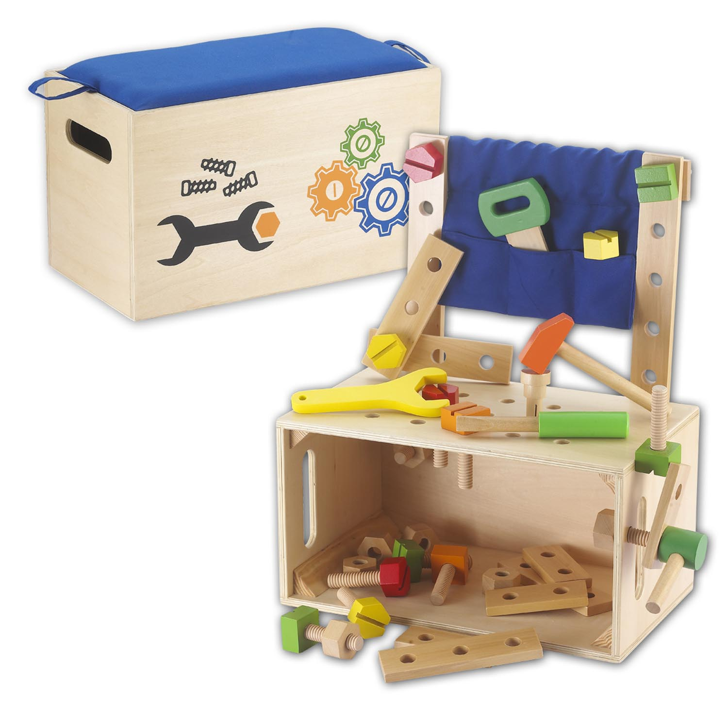 Kids Toy Work Bench Tool Bench Tool Box Tool From Wood Ebay