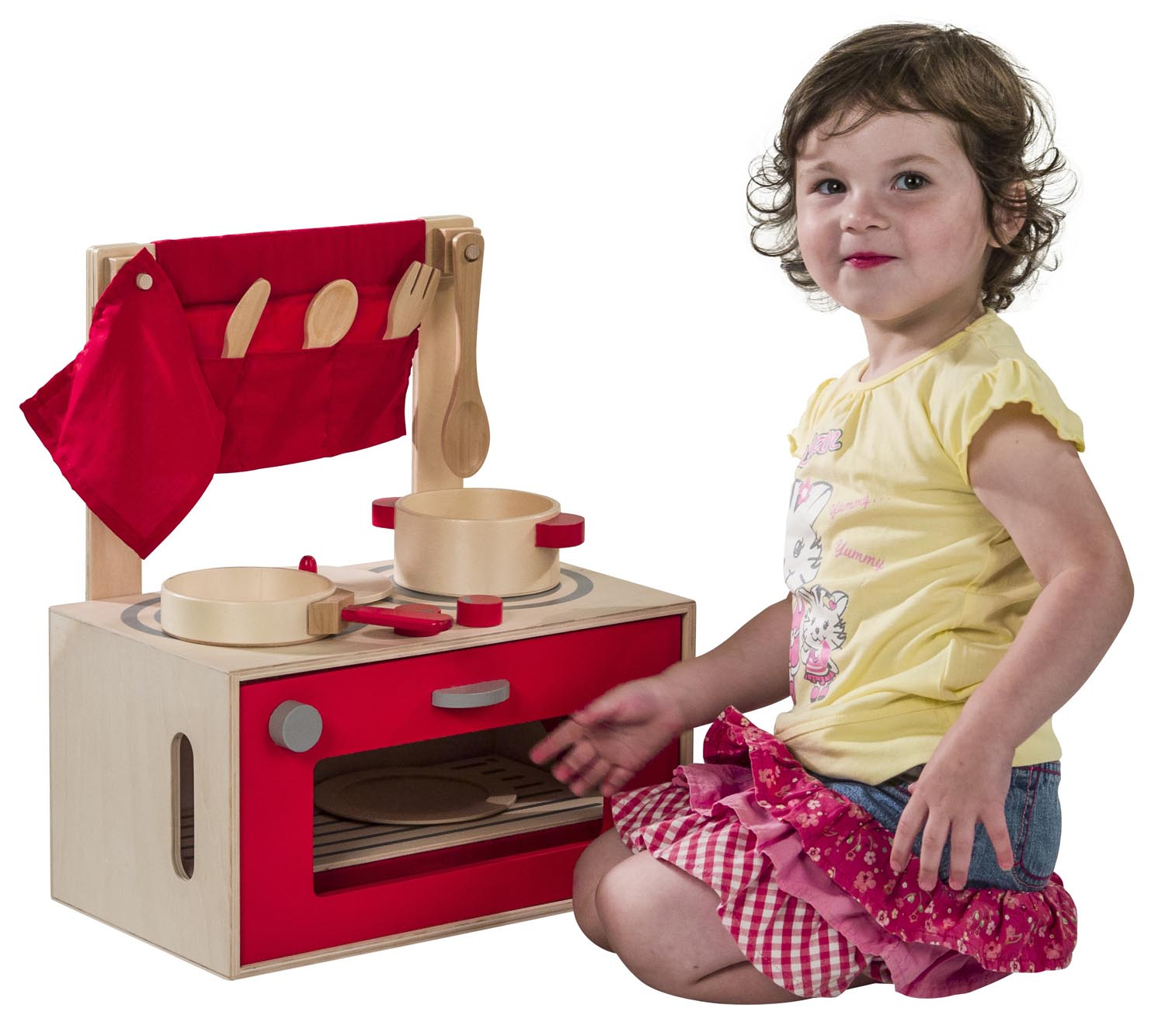Kids Toy Kitchen Set Play Kitchen Of Wood Incl. Box Pot