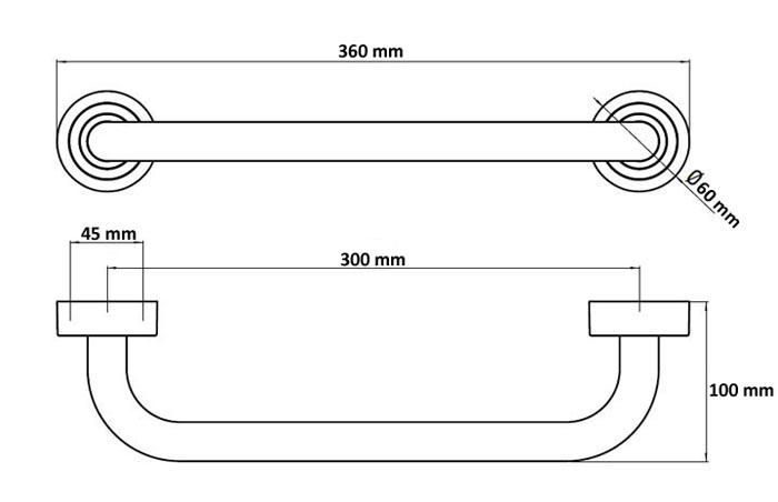 ... Wannengriff 30cm Badewannengriff weiß Griff Haltegriff Einstiegshilfe