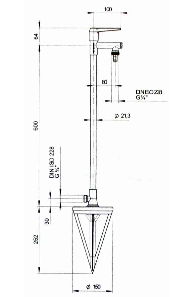 kirchhoff sommer gartenstandventil garten wasserhahn. Black Bedroom Furniture Sets. Home Design Ideas