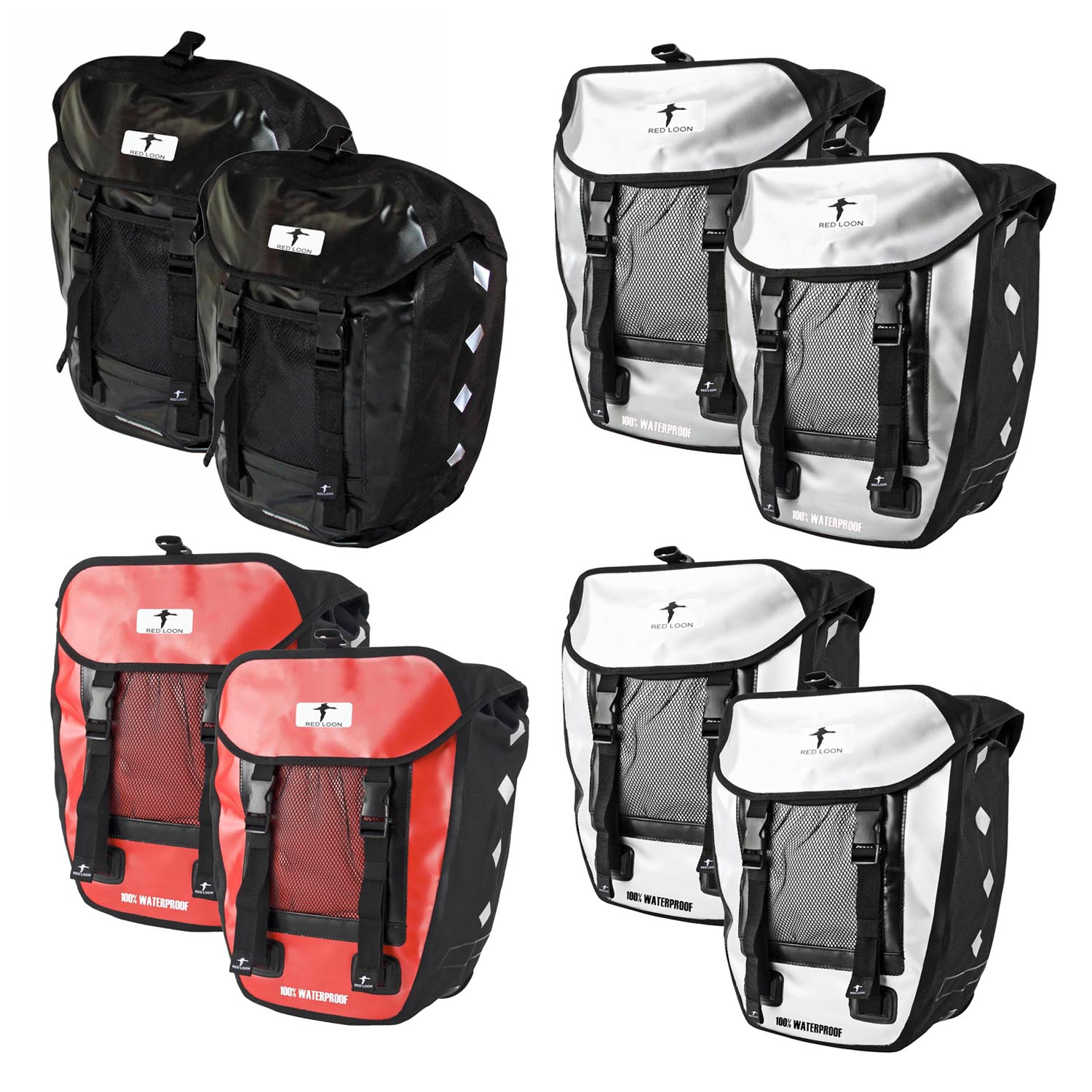 2x red loon pro packtasche fahrradtasche. Black Bedroom Furniture Sets. Home Design Ideas