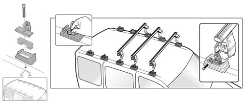 dachtr ger menabo tema aluminium vw volkswagen t5 multivan. Black Bedroom Furniture Sets. Home Design Ideas