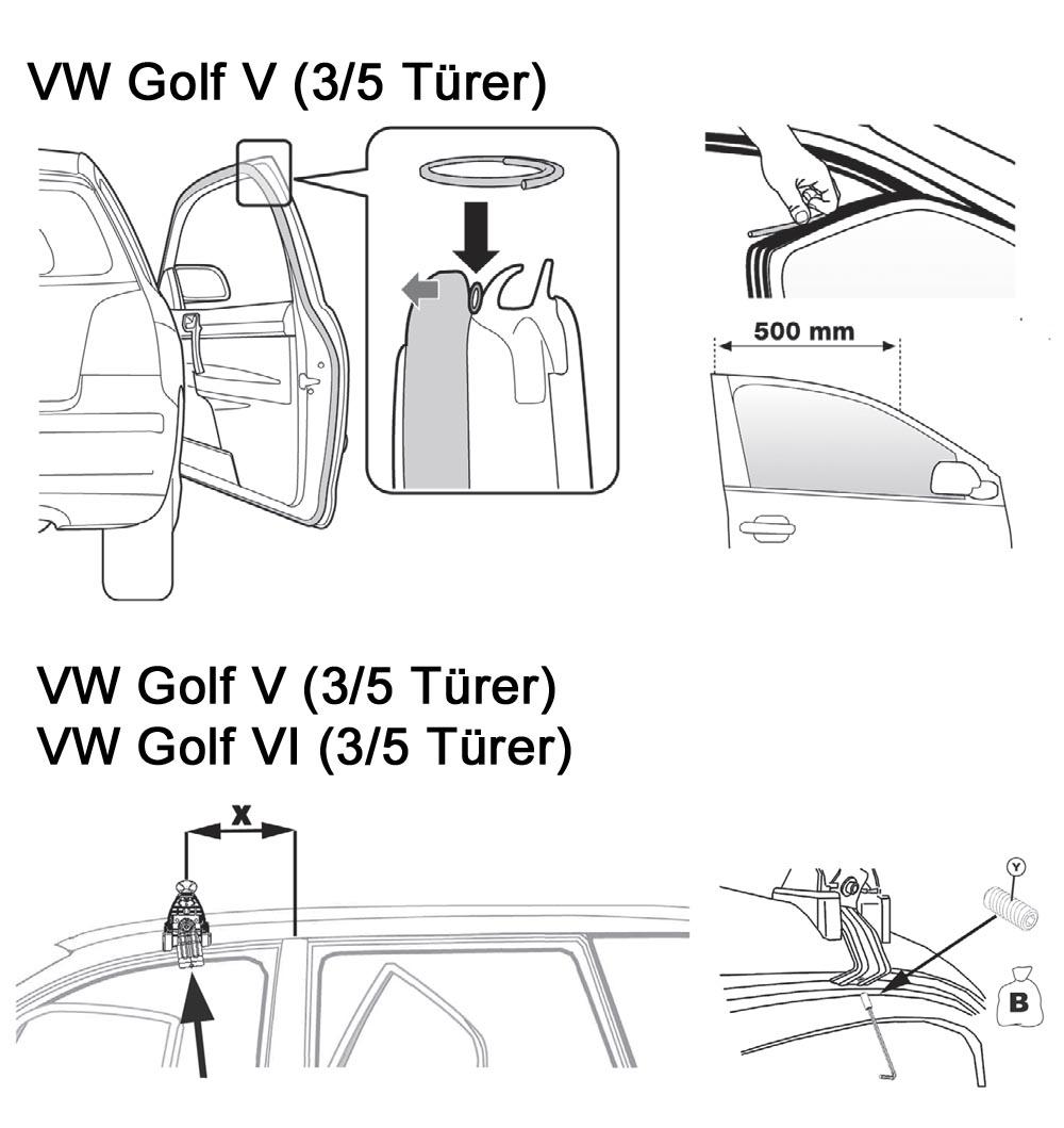 dachtr ger aurilis original vw golf 5 3 5 t rer 07 08 golf 6 3 5 t rer ab 08 ebay. Black Bedroom Furniture Sets. Home Design Ideas