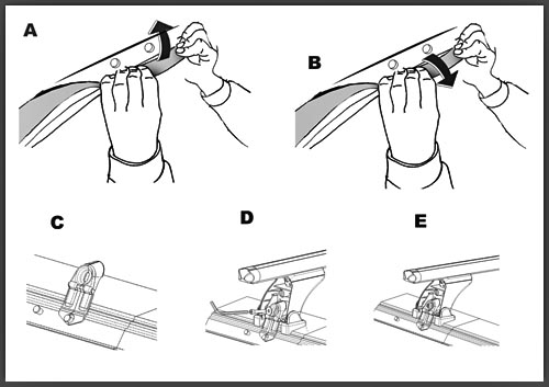 kit 264 f r dachtr ger aurilis original vw golf iv 5 t rer. Black Bedroom Furniture Sets. Home Design Ideas