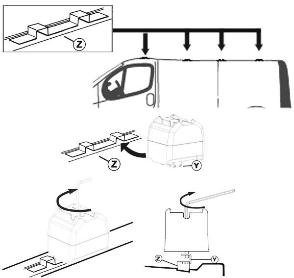 dachtr ger dachgep cktr ger aurilis pro opel vivaro ab 08. Black Bedroom Furniture Sets. Home Design Ideas