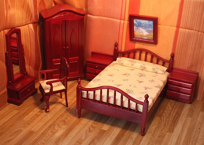 Viktorianisches Puppenhaus Holz ~ viktorianisches Puppenhaus Villa 78x42x91cm + 6 komplette Möbel Sets
