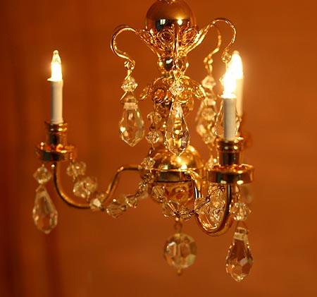 echter kristall kronleuchter puppenhaus 3 armig 1 12. Black Bedroom Furniture Sets. Home Design Ideas