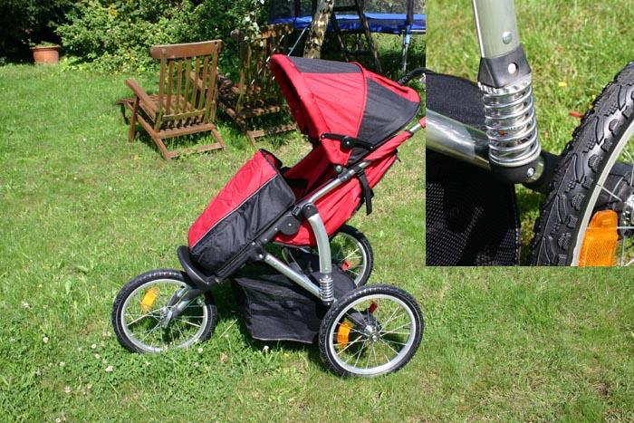 kranich 66087 alu kinderanwagen jogger federung t v gs ebay. Black Bedroom Furniture Sets. Home Design Ideas