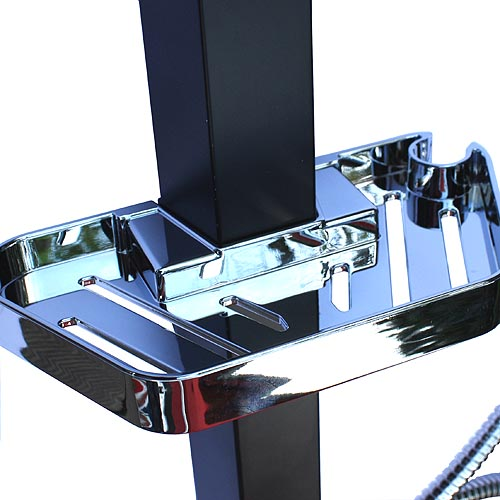 madagaskar berkopfbrauseset duschstange dusche alu ebay. Black Bedroom Furniture Sets. Home Design Ideas