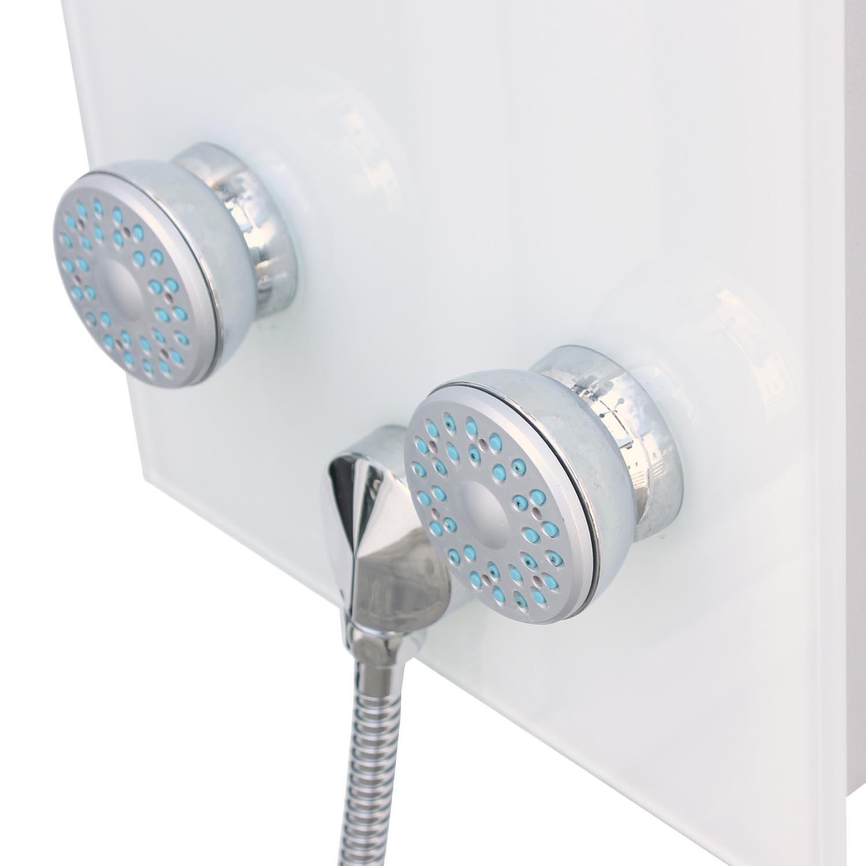 glas duschs ule duschpaneele regenbrause mit thermostat. Black Bedroom Furniture Sets. Home Design Ideas